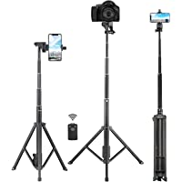 Selfie Stick Tripod, Eocean 54'' Extendable Selfie Stick with Phone Tripod Stand & Wireless Remote for iPhone SE 11 Pro…