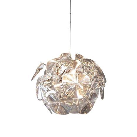 Glighone Lámpara de Techo Luz Colgante Lámpara Moderna de Acrílico Luz de Comedor Estilo Simple Forma de Mansana Casquillo E27 No Incluye Bombilla ...