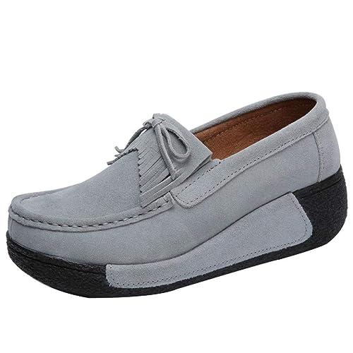 Mocasines Borla Zapatillas Plataforma para Mujer, QinMM Zapatos cómodos del otoño del Verano Deportes Merceditas: Amazon.es: Zapatos y complementos