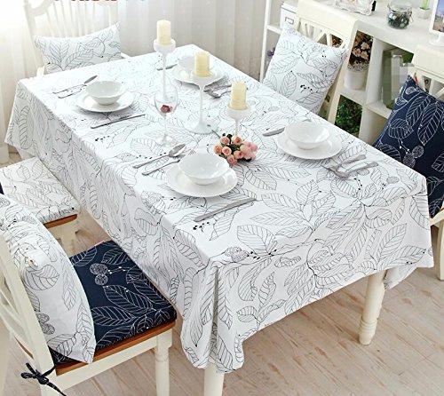 WFLJL tischdecke Reine Baumwolle idyllische Stoffe Tisch Rechteckig weiß 160 100  160 weiß cm a1d144