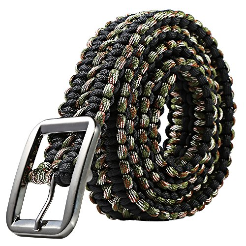 Tactical Waist Belt Survival Woven Belt For Camping, Hunting, Hiking, and Other...