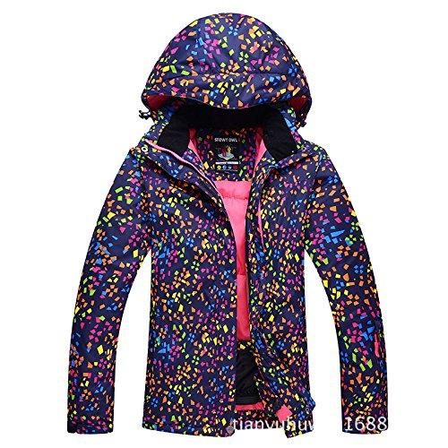 FYM DYF Coat Warm JACKETS Warm Long Hat Black Sleeve Zipper Ski Women Men Jacket Thickened UqrUw5I4