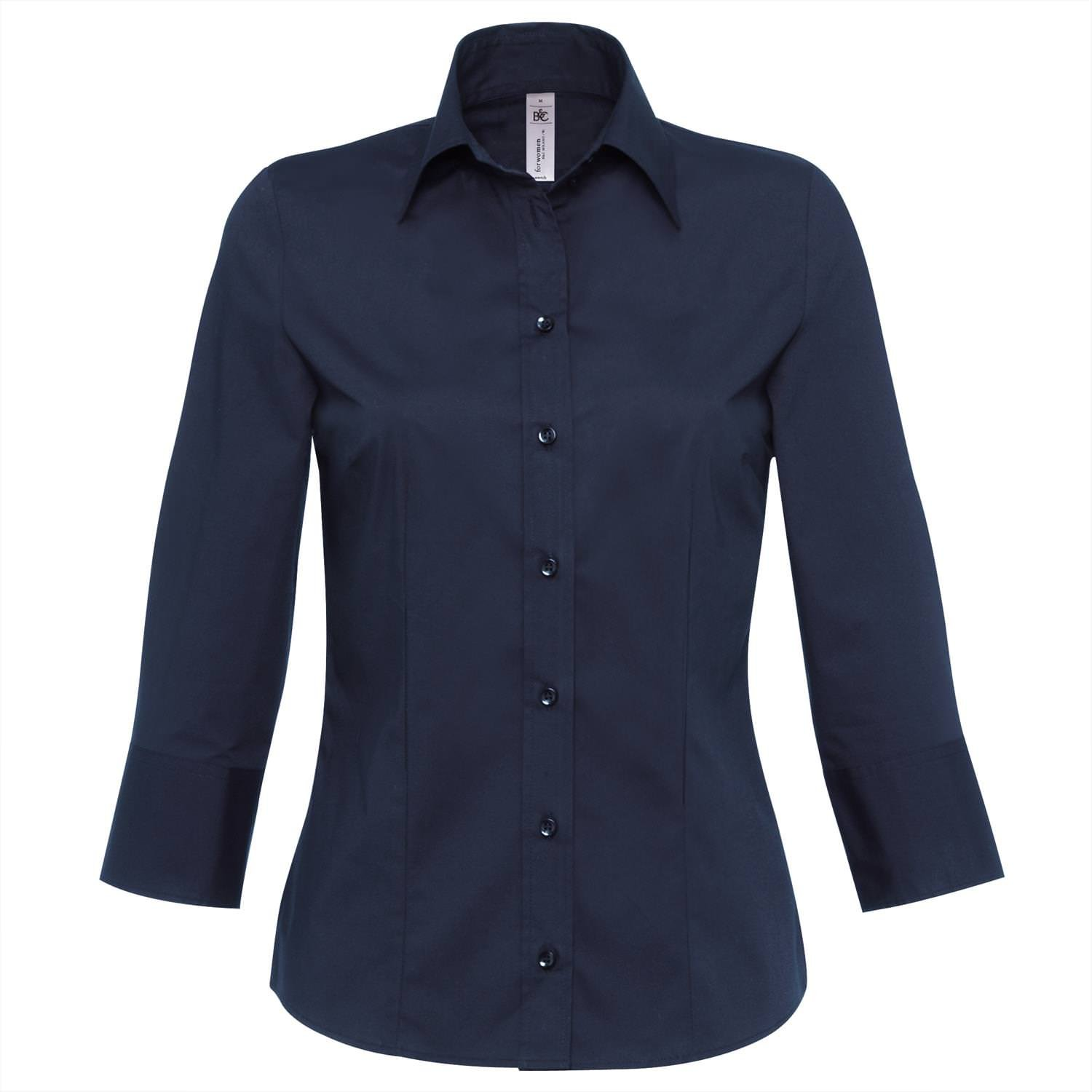 Ladies, stretch, ¾ sleeve shirt by B and C collection
