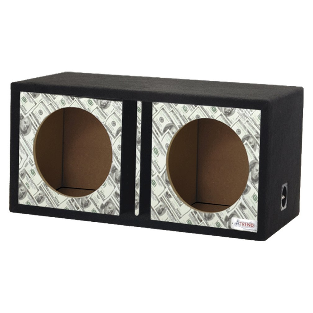 Bankroll Atrend GFX Series Dual Vented Divided Chamber 10 Subwoofer Enclosure