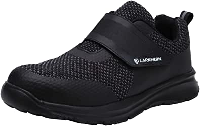 Zapatos de Seguridad Hombre Mujer,Punta de Acero Anti-Deslizante Ultra Liviano Transpirable Reflectivo LM30