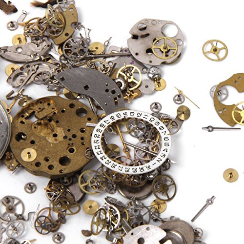 WINOMO 50 Grams Vintage Steampunk Watch Gears Wheels - Steampunk Jewelry Parts