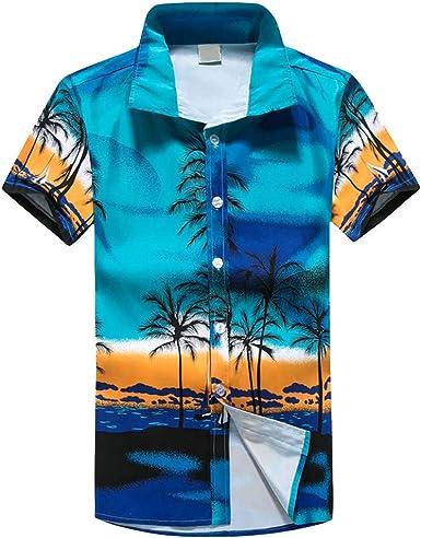 Cocoty-store 2019 Camisa Hawaiana para Hombre Mujer Casual Manga ...