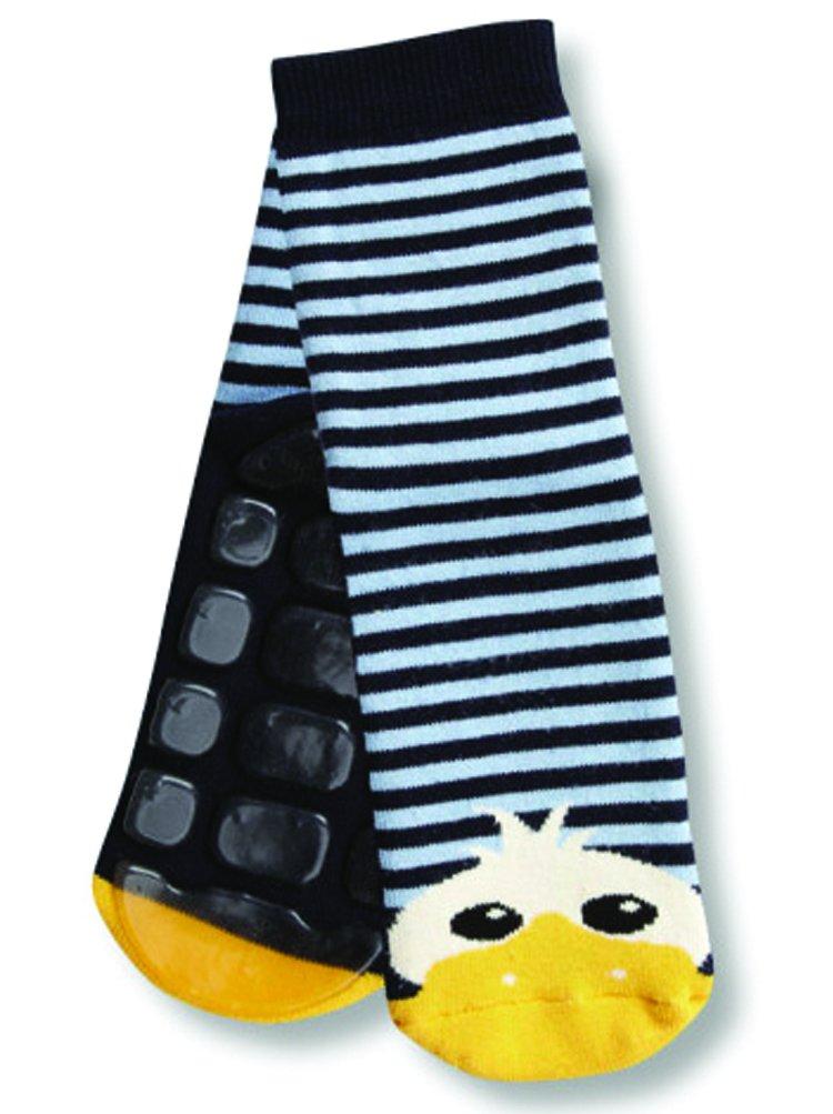 Country Kids Non-Skid Animal Slipper Socks Danny Duck, Pack of 1 DAN-1PK-BOY