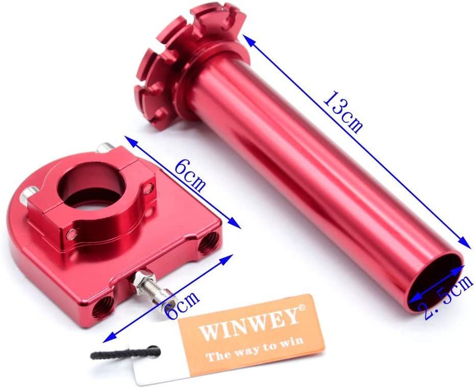 winwey 7//8 22mm Motorcycle Aluminum Accelerator Throttle Twist Handle Bar Level Control Grip Black Universal Motorbike Handle Bar Grips Parts robust corrosion-resistant durable