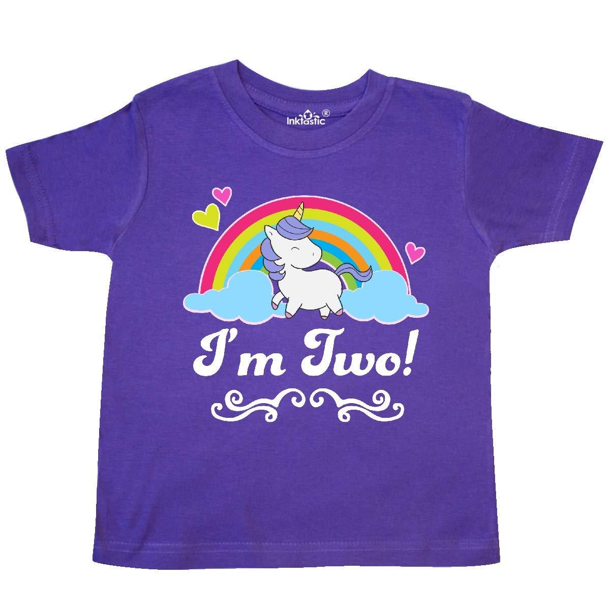 inktastic 2 Year Old Birthday Unicorn Girls Toddler T-Shirt
