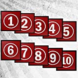 #9: Tyro Red Activity Mat Pack (Numbers 1-10)