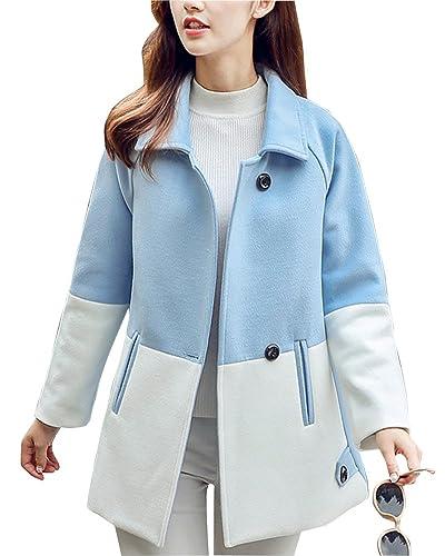 Mujer Casual Costura Delgado Manga Larga Abrigo Calor Grueso Medio Largo Chaqueta