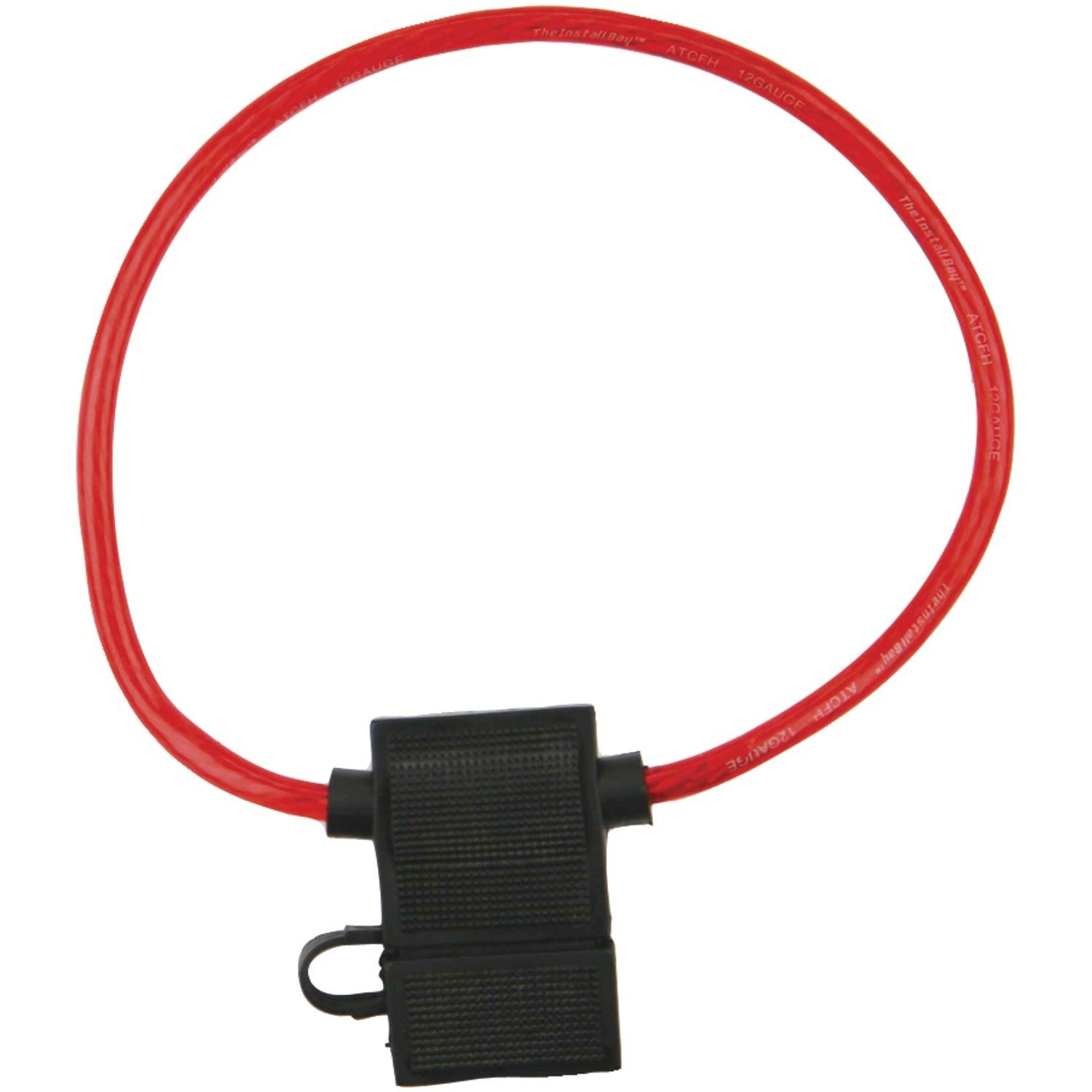 Install Bay Atfh12c 10 Waterproof Atc Fuse Holder 12 Maxi Installed Wiring Harness Gauge With Cover Pack Car Electronics