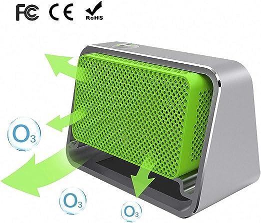 Qwhome Generador del ozono del Coche del purificador de Aire, máquina portátil del ozono O3 500mg / h para el esterilizador del Desodorante del Limpiador de Aire del ...