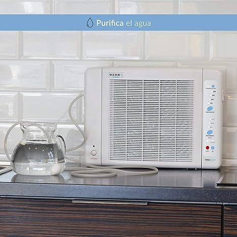 Generador de Ozono Doméstico de Aire y Agua Programable 8h ...
