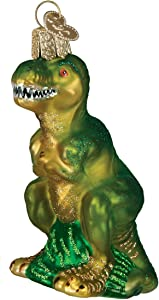 Old World Christmas Dinosaurs Glass Blown Ornaments for Christmas Tree,T-Rex