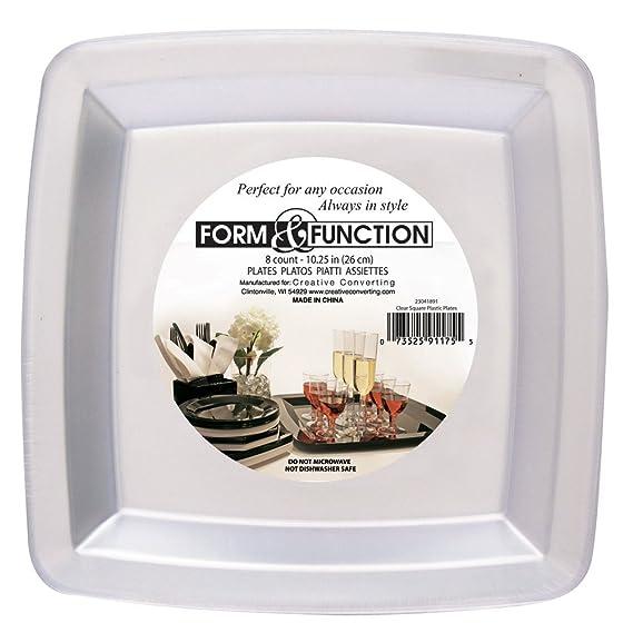 Amazon.com: Creative Converting 23326091 Plastic Banquet Plate 10.25