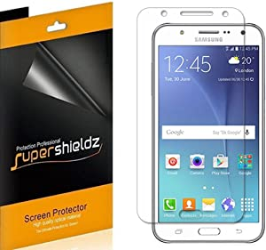 (6 Pack) Supershieldz for Samsung Galaxy J7 Screen Protector, High Definition Clear Shield (PET)