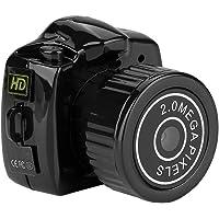 ASHATA Minikamera cyfrowa HD z czystym zdjęciem i filmem, noktowizor na podczerwień, karta TF (do 32 GB), kamera DVR