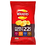 Walkers Meaty Variety Crisps, 25 g (Pack of 22)