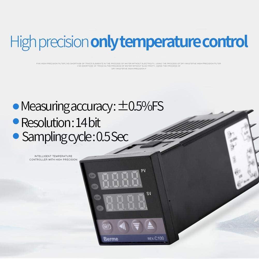 Kit de Contr/ôleur de Temp/érature PID AC 110V-240V 0-1300 ℃ Alarme LED Num/érique avec Thermocouple K Relais Statique