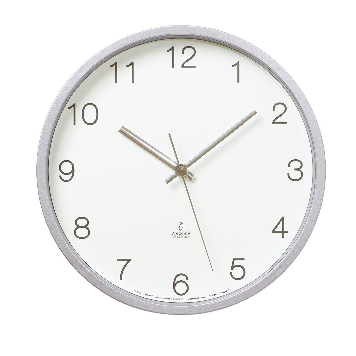 Lemnos Basic clock 電波時計 ホワイト PC06-25W WH B000OFYHQOホワイト