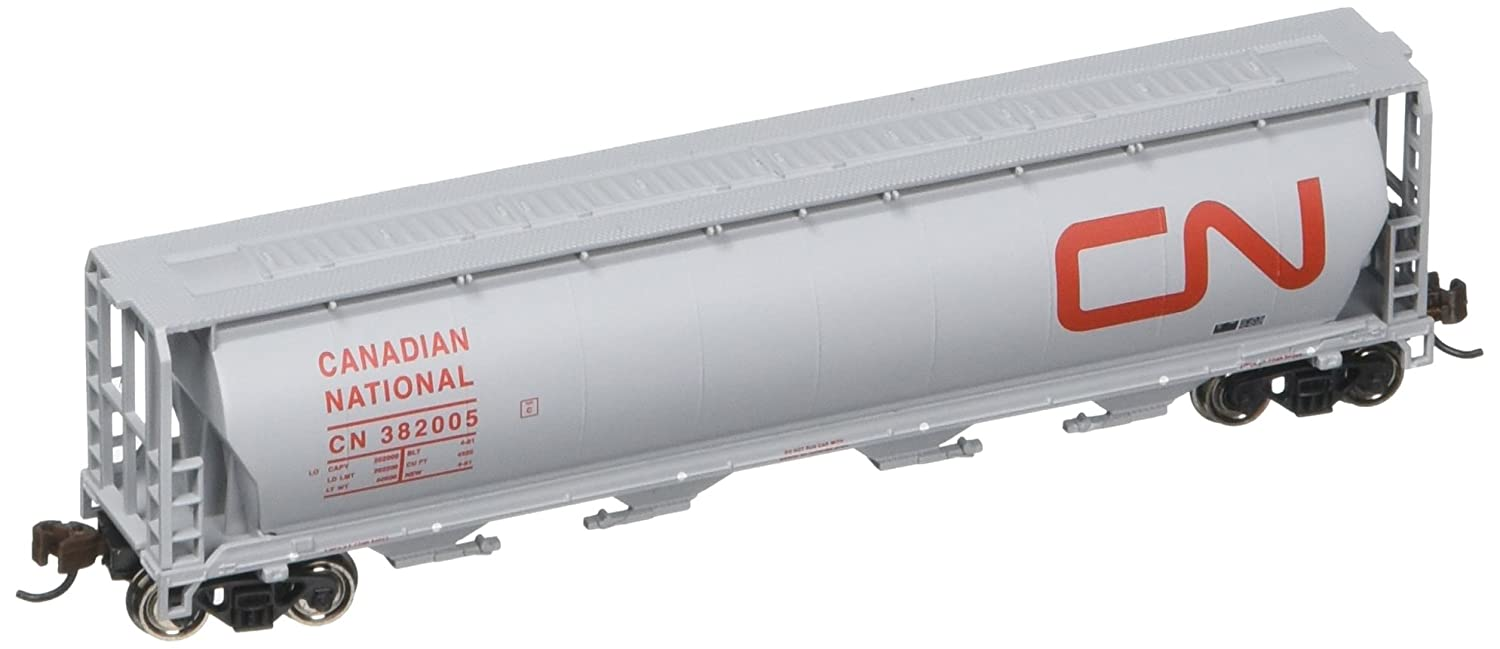 Bachmann Industries Inc. Canadian 4-Bay Cylindrical Grain Hopper Canadian National - N Scale