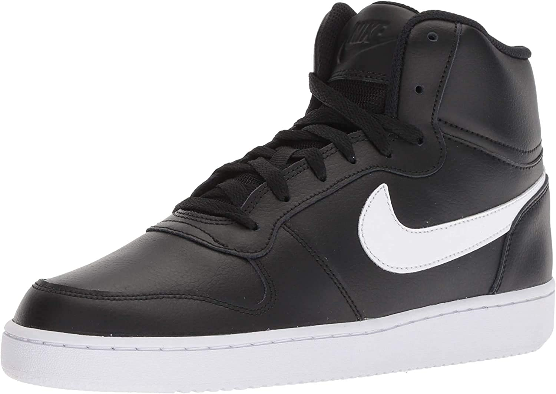 Ingenioso episodio principal  Amazon.com | Nike Ebernon Mid Trainers Men Black/White High Top Trainers  Shoes | Fashion Sneakers