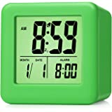 Plumeet Easy Setting Digital Travel Alarm Clock with Snooze,Soft Nightlight,Large Display Time & Month & Date & Alarm…