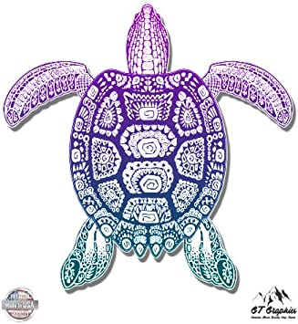Aquatic Life vinyl decal for your car! Sea Turtle Choose any color!