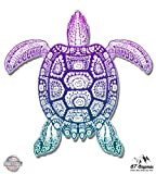 """Best Turtles With Flag Shells - Sea Turtle Beautiful Color - 8"""" Vinyl Sticker Review"""