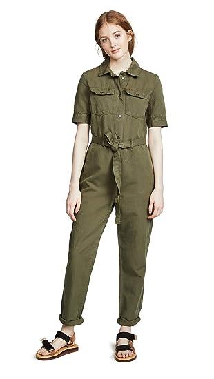 e40728c240 Amazon.com: FRAME Women's Belted Jumpsuit: Clothing