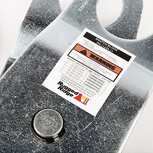 Rugged Ridge 15104.45 Snatch Block with Damper Kit (20,000lbs)