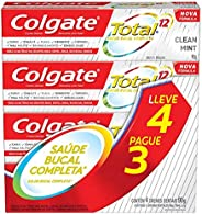 Creme Dental Colgate Total 12 Clean Mint 90G Promo Leve 4 Pague 3