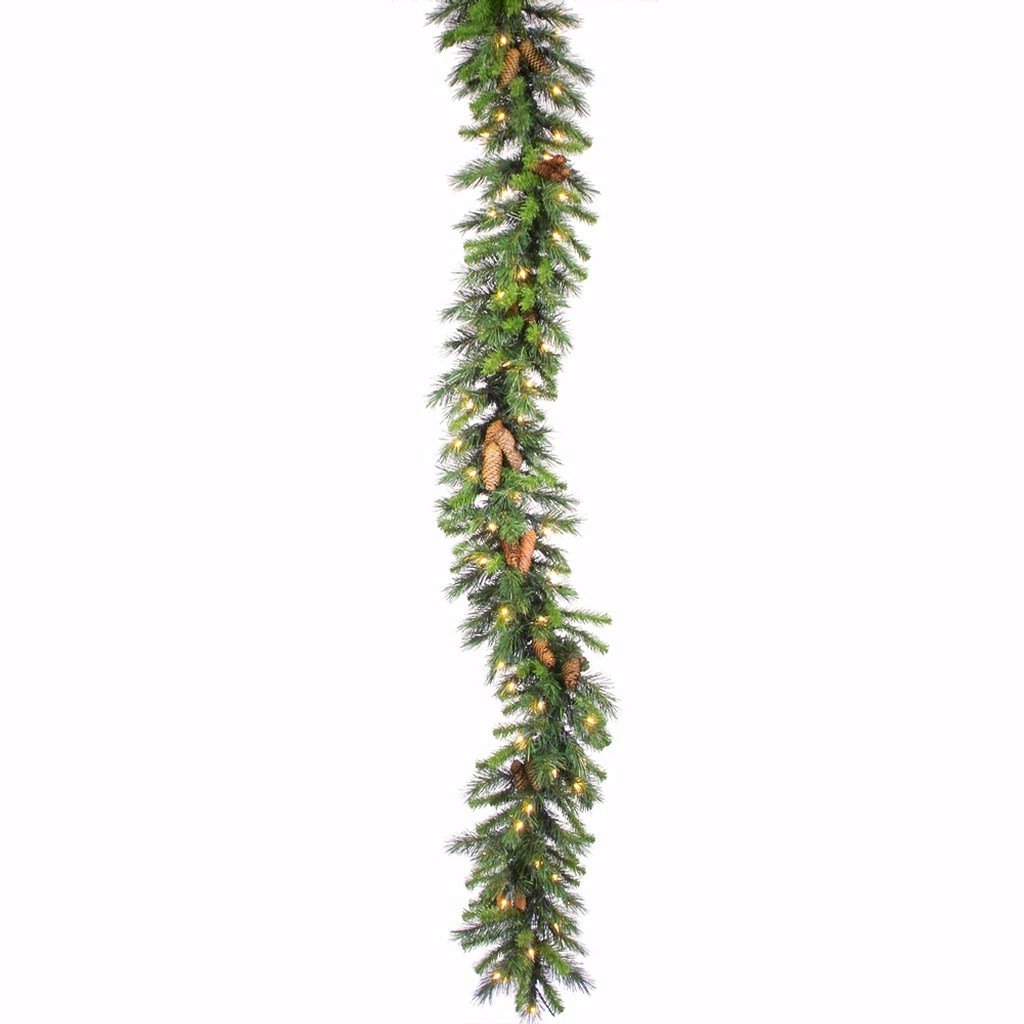 Vickerman 240 Tip Cheyenne Pine Garland Unlit 9-Feet by 12-Inch