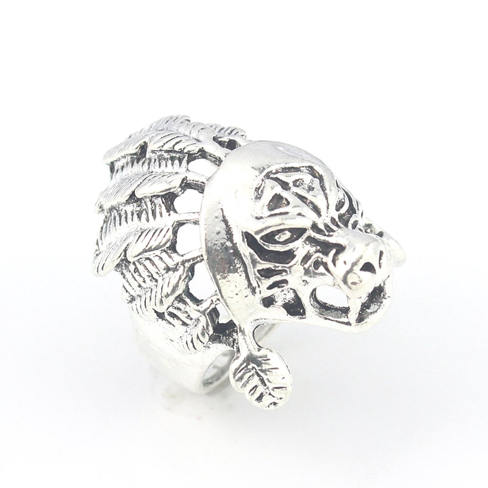 LION PLAIN FASHION JEWELRY .925 SILVER PLATED RING 10 S23444