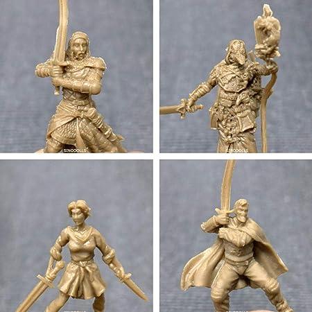Nobranded 4 Unids/Lote Black Plague Miniatures Heroes Figura Juego de Mesa Juego de rol Figuras Modelo Juguetes: Amazon.es: Hogar