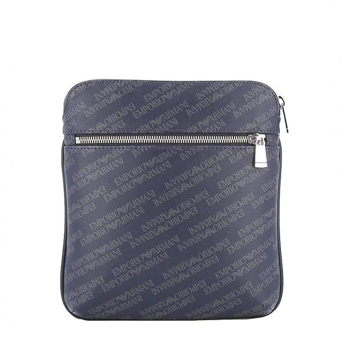 63dbaa47cd Emporio Armani men's cross-body messenger shoulder bag blu: Amazon ...