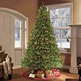 Puleo International 7.5-Foot Pre-Lit Fraser Fir Artificial Tree with 750 Clear UL-Listed Lights