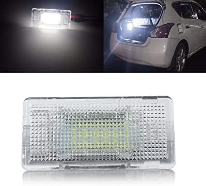 Yuguiyun Auto Led Kofferraumbeleuchtung Fußraumbeleuchtung Innenraumbeleuchtung Bright Weiß Lampen Leuchtmittel Für E36 E38 E39 E46 E60 E60lci E61 E65 E66 E82 1pcs Auto
