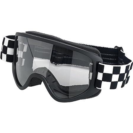 mascaras café racer Goggle Biltwell Moto 2.0Checkers negro/blanco