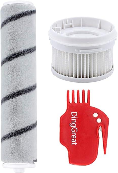 1 x Spazzole a Rullo e 1 x filtri HEPA per Xiaomi Mijia 1C SCWXCQ02ZHM Handheld Vacuum Cleaner DingGreat Kit di Ricambio per Xiaomi Aspirapolvere Senza Fili