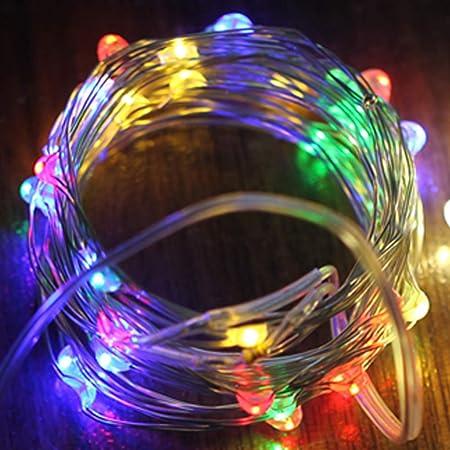 FBGood - Guirnalda de Luces solares de Color LED para Exterior ...
