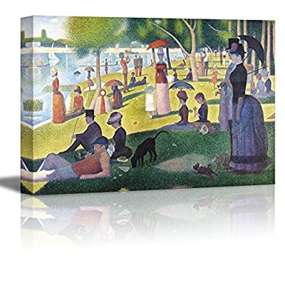 A Sunday on La Grande Jatte by Georges Seurat Giclee Canvas Prints Wrapped Gallery Wall Art | Stretched and Framed Ready to Hang - 16