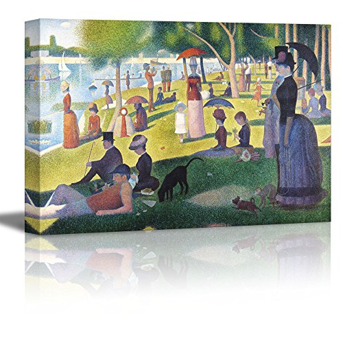 Wall26 A Sunday on La Grande Jatte by Georges Seurat Giclee Canvas Prints Wrapped Gallery Wall Art | Stretched and Framed Ready to Hang - 24