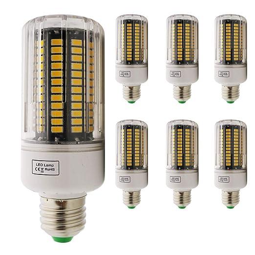 E27 LED maíz bombilla, 18W Luz cálida 3000K LED bombillas 1800 lm, Edison tornillo