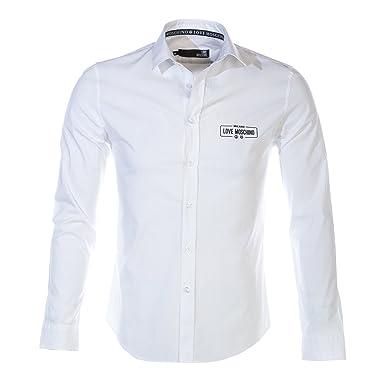 5538026479 Moschino Love Moschino Rubber Logo Shirt in White L: Amazon.co.uk: Clothing