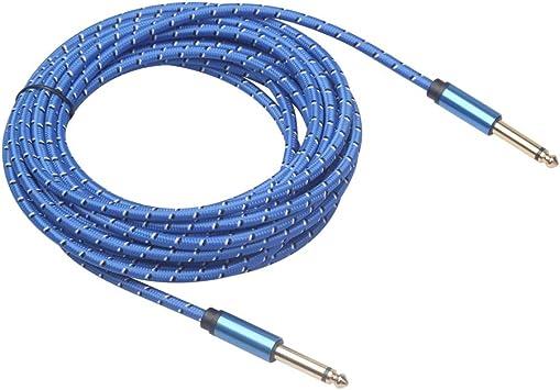 TOOGOO Guitarra eléctrica 6.35mm Cable de Cable Auxiliar Macho ...