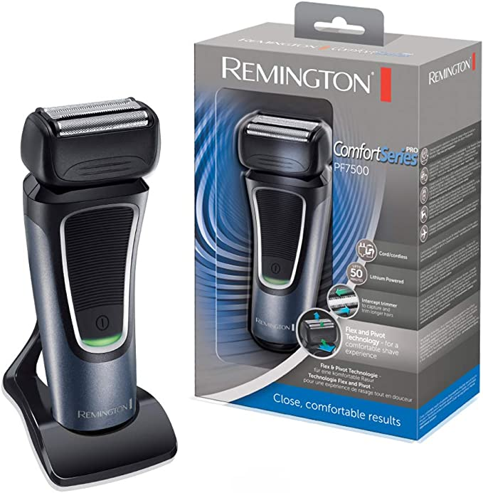 Remington Afeitadora Láminas Comfort Series Pro PF7500, Negro ...