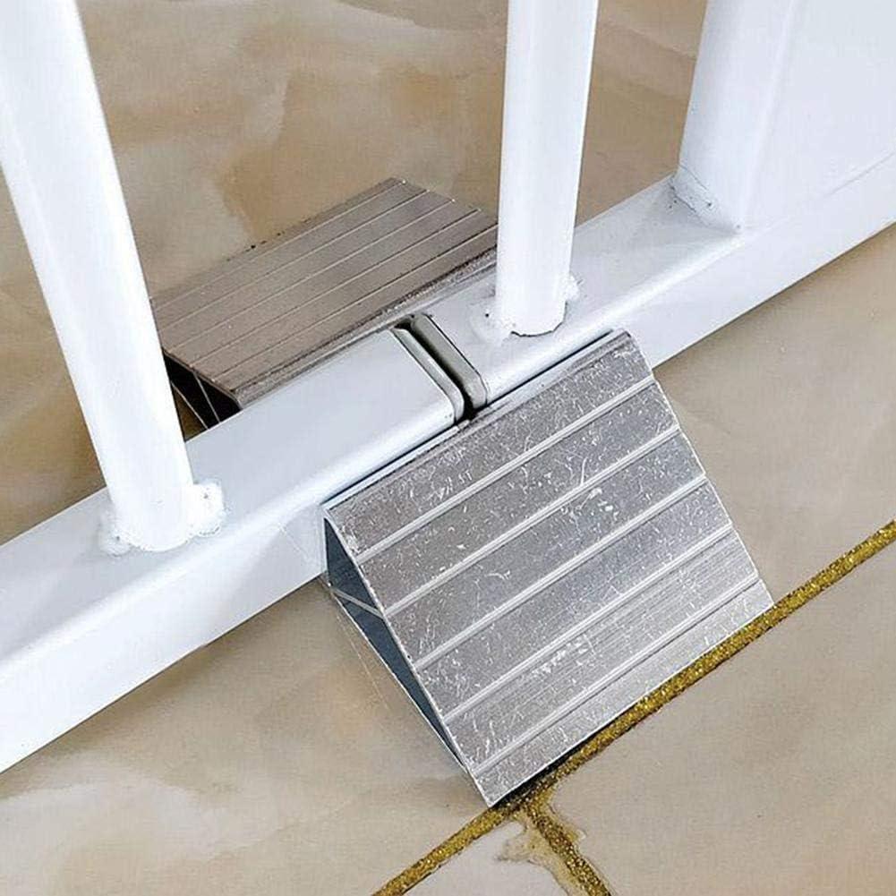 heresell 1206530 mm Portatile cancelletto di Sicurezza per Animali Domestici Sicuro da installare Ovunque Bianco Pieghevole
